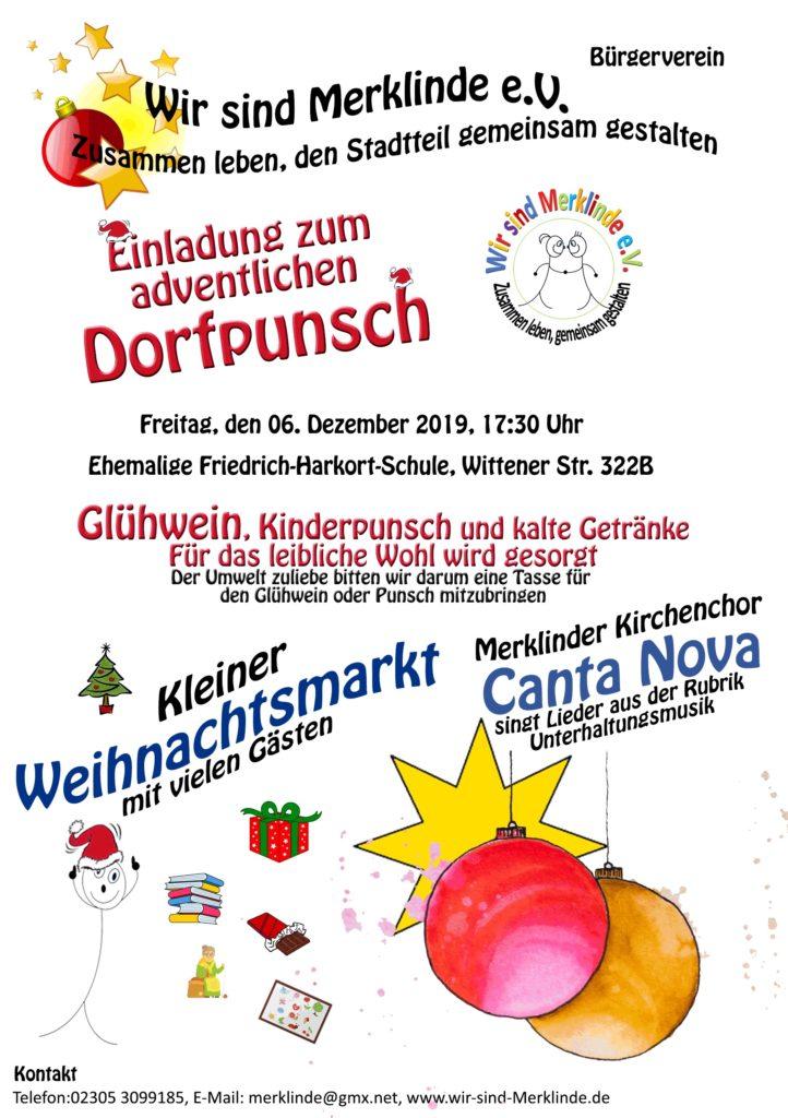 Plakat Dorfpunsch 2019
